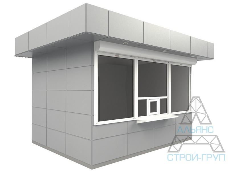 Киоски из металлоконструкций. Торговый киоск 25