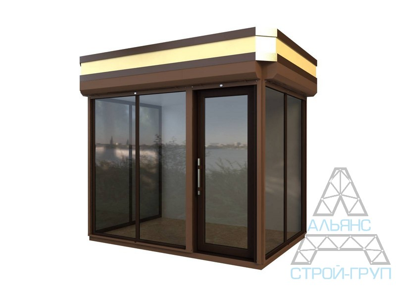 Buy Booths from a metalwork. Trade booth 44