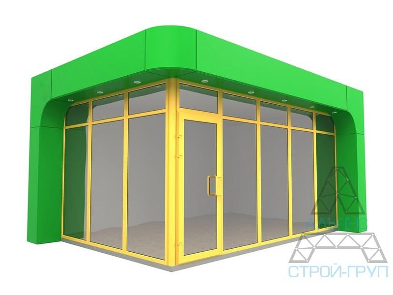 Павильоны торговые из металлоконструкций. Торговый павильон 33