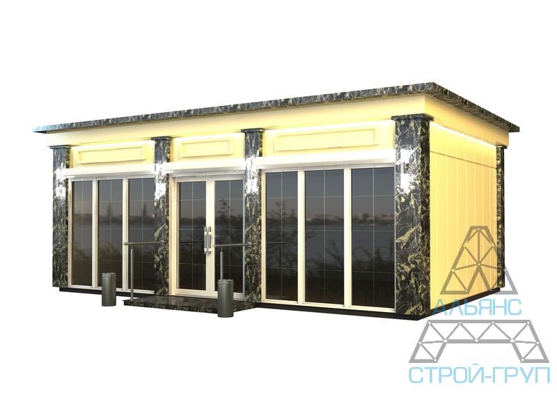 Павильоны торговые из металлоконструкций. Торговый павильон 54
