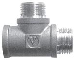 Купить Фитинги Тройник с двумя переходами на наружную резьбу VT 133 марки Valtec