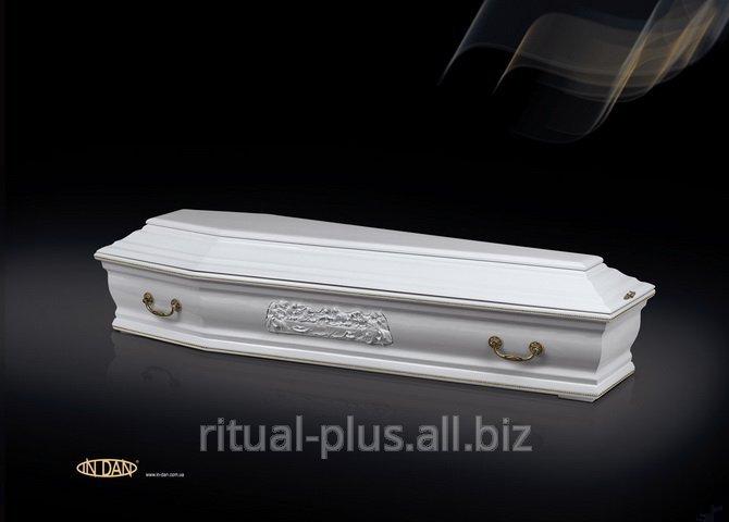 Гроб  VIP Франция в белом