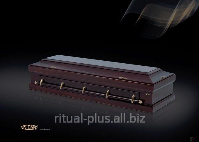 Гроб  VIP, орех под матом