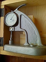 Толщиномер ТН 10-60М ГОСТ 11358-74 (0-10мм) ц.д. 0,01 мм