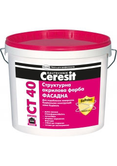Buy ST-40 Paint in e Ceresit of structural front acrylic 10 l.