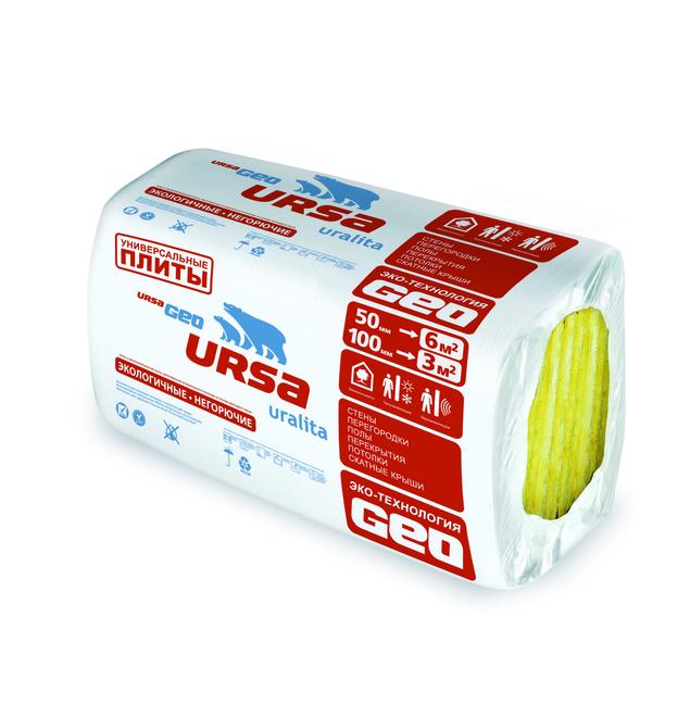 Купить УРСА GEO Универсальные плиты 50х600х1250х12 шт.(9 м.кв.)