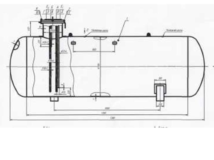 Подземная емкость для сжиженных углеводородных газов, резервуар для пропан-бутана, газовая емкость