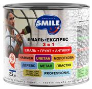 Купить ЭМАЛЬ-ЭКСПРЕСС 3 в 1 антикоррозионная «молотковый эффект»