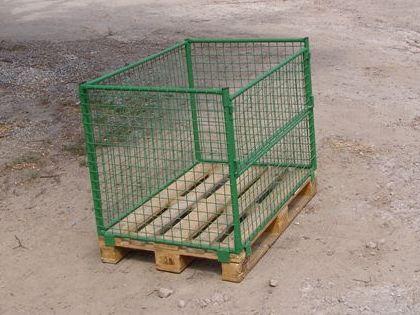 Купити Контейнер паллетний сітчастий складний без кришки для транспортування й зберігання різних вантажів