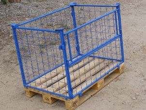 Buy The container pallet mesh folding multilevel for transportation and storage of different loads