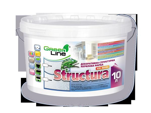Декоративная структурная акриловая краска Structura - Green Line