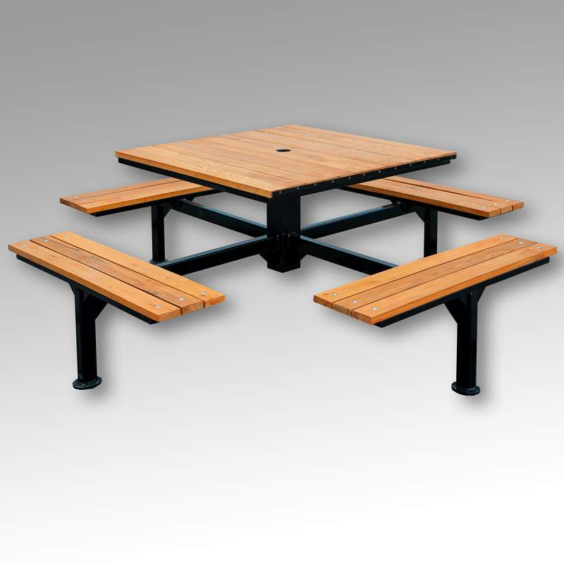 Стол и лавки для беседки ЛСП №7