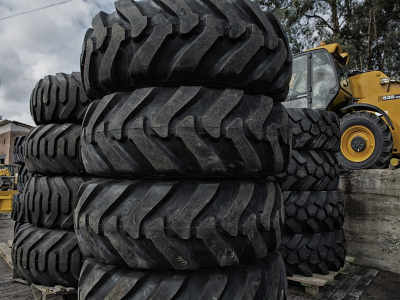 Tires new and \at for JCB