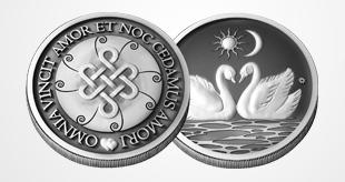 Купить Серебряные монеты, талисман любви