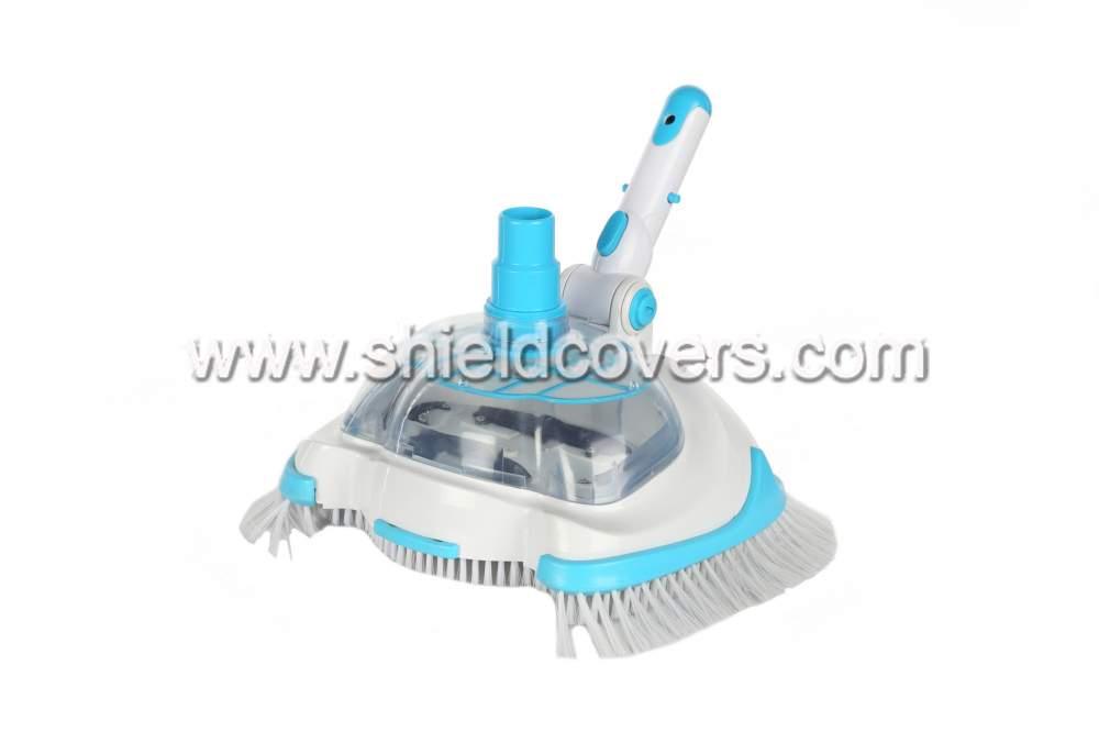 Shield cleaning brush basin bottom