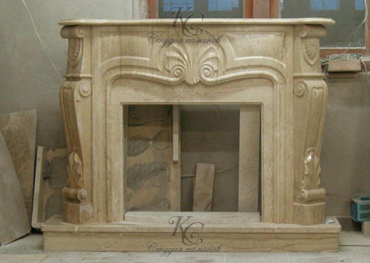 Мраморная каминная облицовка для камина