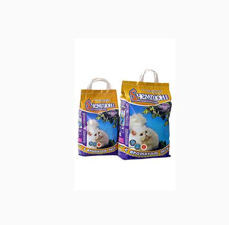 Купити Гігієнічний напольнитель ЧЕМПІОН №5, №15, комкующийся дрібнозернистий (0,5-1,2 мм)