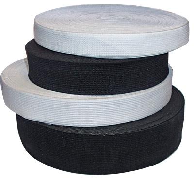 Резинка для одежды 4 см белая