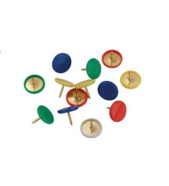 Кнопки цветные с пластиковым покрытием шляпки