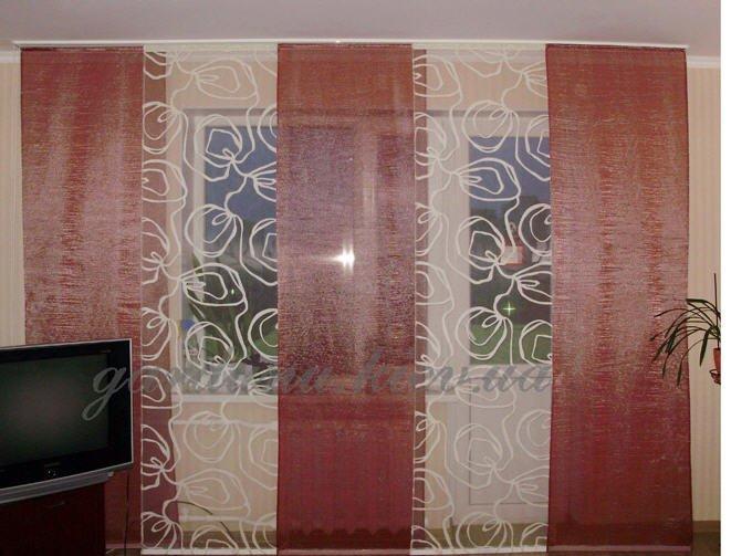 Японская штора своими руками фото