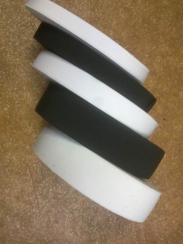 Резинка для одежды плотная 2 см черная