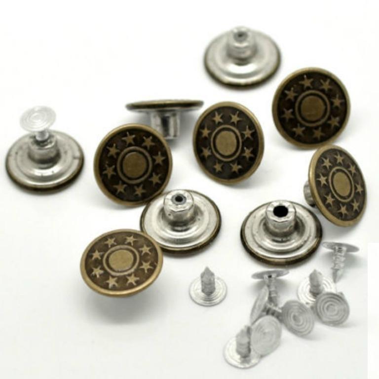 Купить Пуговицы металлические 17 мм