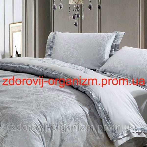 Турмалиновое шелковое постельное белье с серебряной нитью