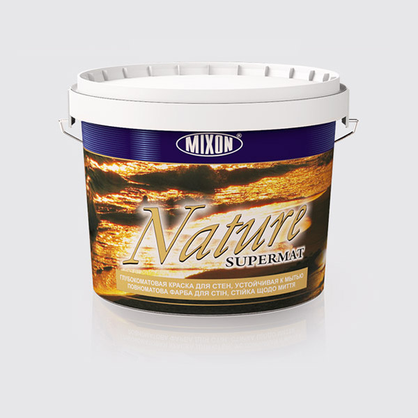 Купить Глубоко матовая краска для стен Mixon Nature Supermat, 2.5 л