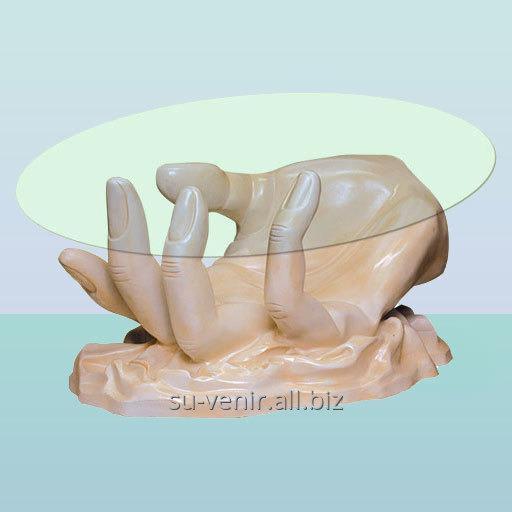Стеклянный столик Рука