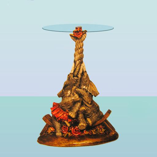 Стеклянный столик Два слона (А)