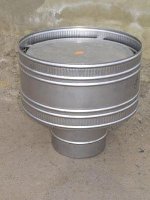 Волпер, дефлектор для дымоходов и вентиляции, нержавеющая сталь