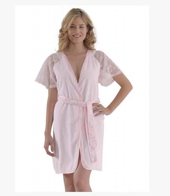Women\'s Pirilty Soft Cotton dressing gowns (pink) buy in Kiev