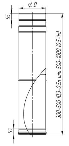 Труба-удлинитель для дымоходов