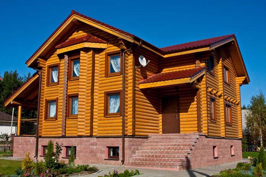 Хвойные деревья используют для несущих конструкций дома