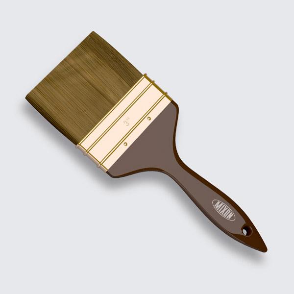 Купить Кисть флейцевая Mixon Синтетика. Искусственный ворс. Ширина, дюйм: 1; 1,5; 2; 2,5; 3; 4.