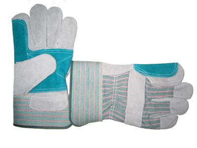 Перчатки комбинированные усиленные спилк+х/б