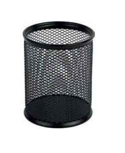Подставка для ручек круглая черная