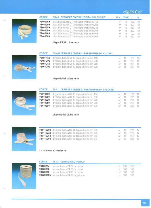 Купить Лента-молния разъемная К20 100 см (белая)