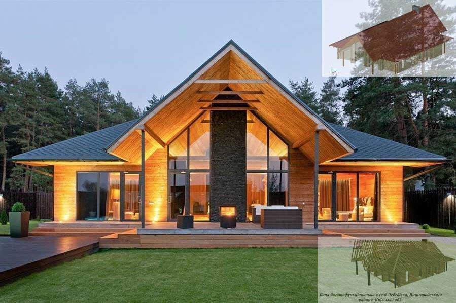 Проекты современных домов из бруса