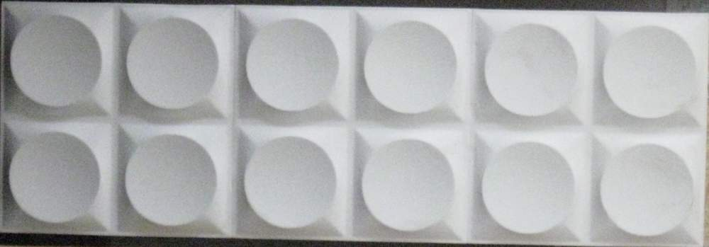 """Buy 3D plate """"Circles"""". The size of a tile is 33*33 cm. Packing of 10 pieces / 1,09 sq.m. Under painting."""