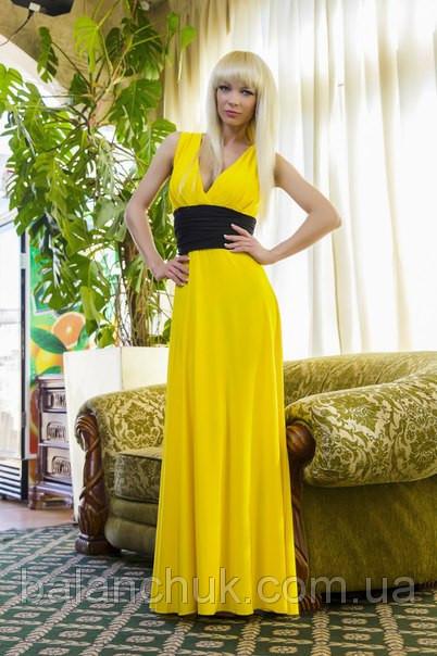 Желтое с черным платье купить