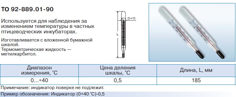 Индикатор инкубаторный ИИ ТО 92-889.01-90