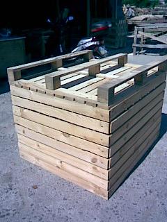 Контейнеры деревянные для закладки в овощехранилище