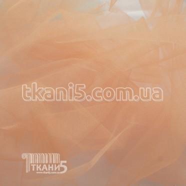 Купить Ткань Фатин crystal трехметровый (персиковый)