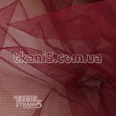 Купить Ткань Фатин жесткий (бордо)