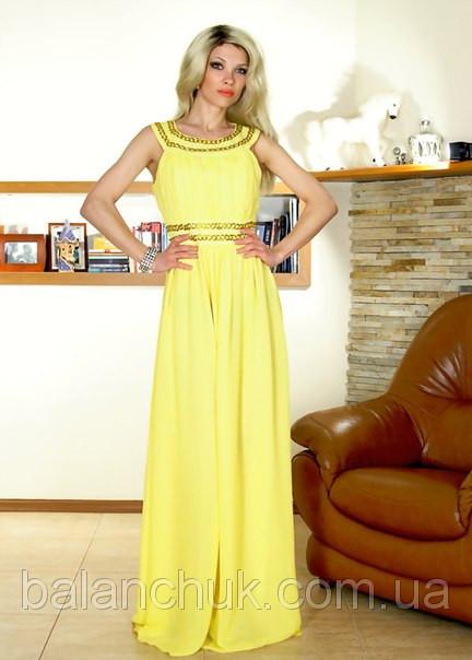 Платье в пол желтое фото