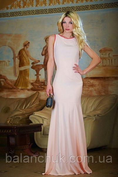 Плаття в підлогу персик з відкритою спиною Плаття з відкритою спиною ... 692b4ffc6224b