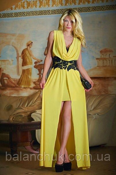 Плаття в підлогу жовте купити в Одеса abd3ce48ac7af