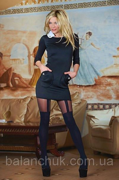 Купить Платье черное с белым воротником Код: 241/ОН