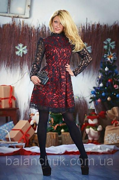 6a0d09afda6ad5 Плаття чорний гіпюр на червоному подкладе купити в Одеса